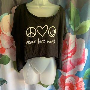 Peace Love World Cotton Crop Tee